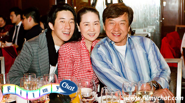 jackie chan with family
