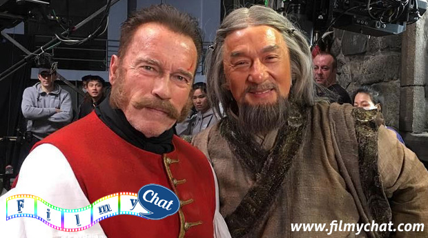 Jackie Chan with Arnold Schwarzenegger