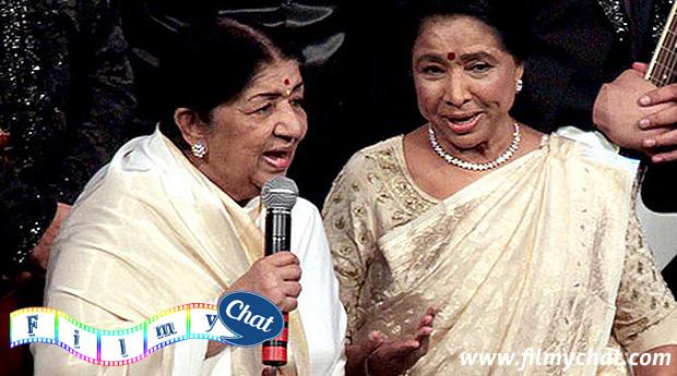 Lata Mangeshkar with Asha Bhosle