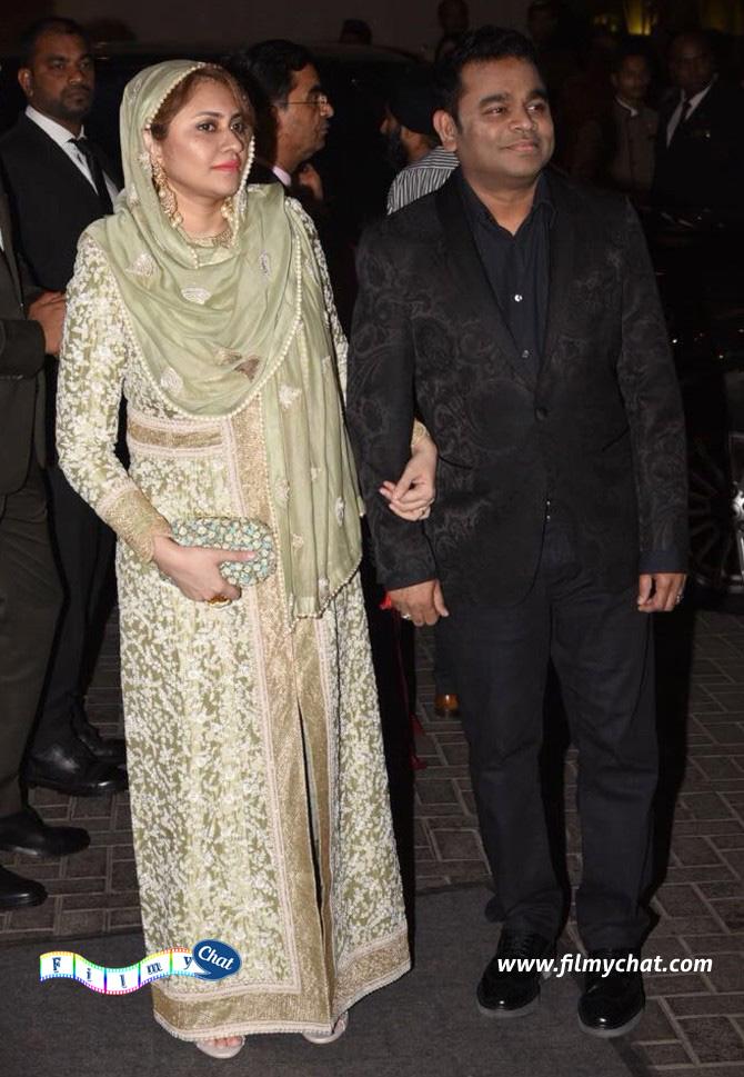 A R Rahman with wife Saira Banu