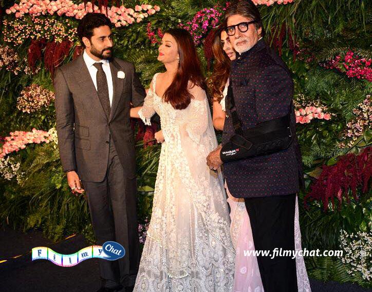 Abhishek Aishwarya, Shweta Bachchan Nanda and Amitabh Bachchan