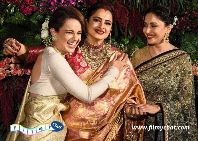 Kangana Ranaut, Rekha and Madhuri Dixit-Nene