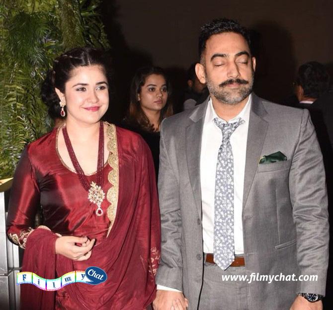 Meher Vij, who starred in Secret Superstar, with husband Manav